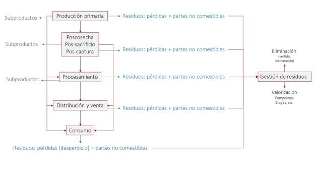 Cadena alimentaria residuos y subproductos